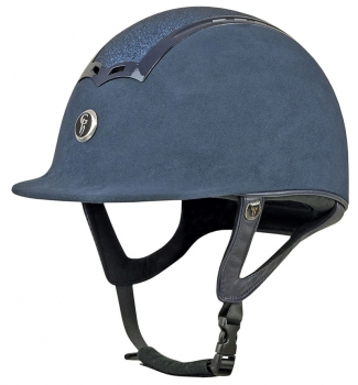 GATEHOUSE CIANA RIDING HAT NAVY/GLITTER 54-55CM
