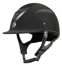 Gatehouse Conquest MK2 Riding Hat Black Suedette 56-60cm