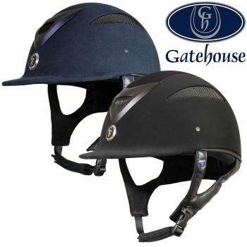 Gatehouse Conquest MK2 Riding Hat Navy Suedette 54-55cm