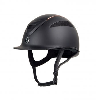 Gatehouse Conquest MK 2 Riding Hat Rose Gold Matt Black 56cm-59cm